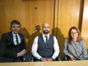 Chris Clarke, Zaheer Anwar and Stéphanie Aymès